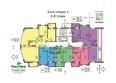 СИМВОЛ ж/к, 1 оч, б/с 1-4: Блок-секция 4. Планировка 6-8 этажей