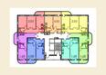 Жилой комплекс МОСТ ж/к: Планировка 3-7 этажей
