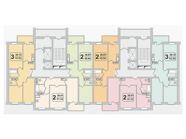 Планировки Жилой комплекс ГРАНД-ПАРК ж/к, б/с 1.3 - Планировка 10-17 этажей