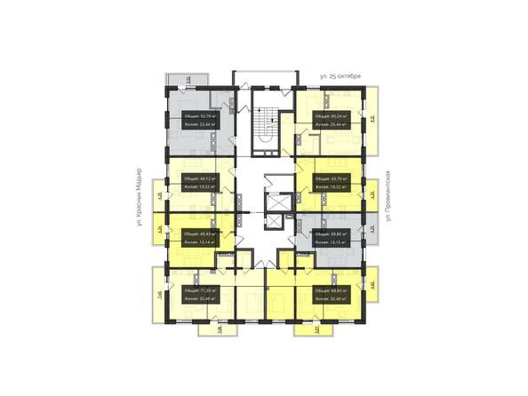 Планировки новостроек КВАРТАЛ ж/к, 1 оч, б/с 1, 2 - Планировка 9-10 этажей