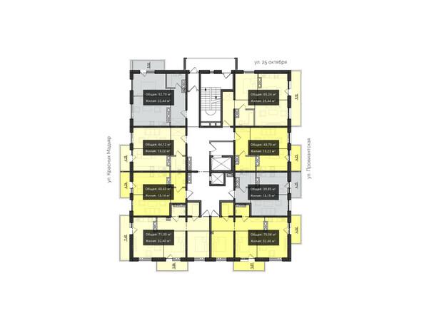 Планировки Жилой комплекс КВАРТАЛ ж/к, 2 оч, б/с 3 - Планировка 11-17 этажей