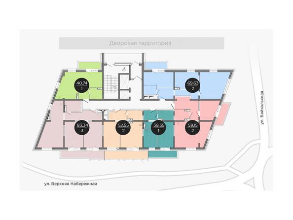 Планировки новостроек ПРИМОРЬЕ ж/к, б/с 2 - Планировка типового этажа