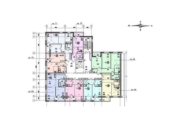 Планировки Жилой комплекс СТРИЖИ ж/к, б/с 7 - Планировка 1-13 этажей