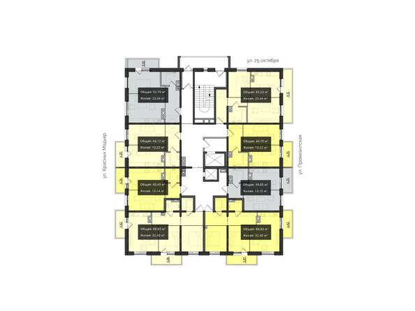 Планировки новостроек КВАРТАЛ ж/к, 1 оч, б/с 1, 2 - Планировка 7-8 этажей