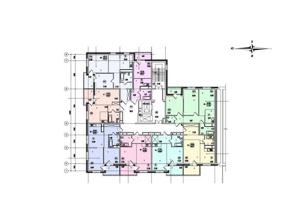 Планировки Жилой комплекс СТРИЖИ ж/к, б/с 7 - Планировка 14-17 этажей